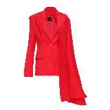 高缇耶Jean Paul Gaultier 红色披肩西服