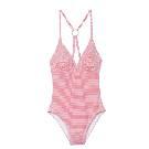 鳄鱼(LACOSTE)2013春夏红白细条纹连体泳装