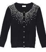 Kate Spade New York凯特·丝蓓2013节日系列黑色长袖针织衫