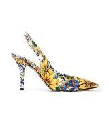 D&G彩绘花朵高跟鞋