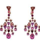 CHUAMET尚美巴黎Hortensia高级珠宝系列玫瑰金紫色耳环