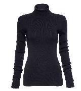 高缇耶Jean Paul Gaultier2013秋冬女装系列黑色翻领针织衫