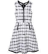 Max Mara麦丝玛拉2014年春夏黑白大格子连衣裙