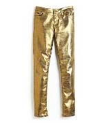 kate spade 金色漆光长裤