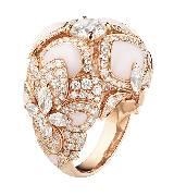 CHUAMET尚美巴黎Hortensia珠宝系列玫瑰金戒指