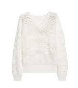 蔻依(Chloé)镂空针织棉质混纺毛衣