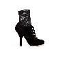D&G黑色麂皮高跟鞋