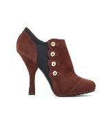 D&G棕色麂皮高跟鞋