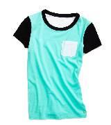 Kate Spade2013春季Pop of color系列COLORBLOCK水蓝色T恤