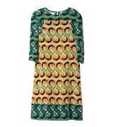 Marni 黄绿色印花连衣裙