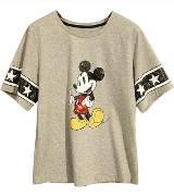 MO&Co.米奇灰色短袖T恤
