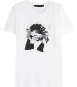 Karl Lagerfeld卡尔•拉格斐朋克系列白色T 恤