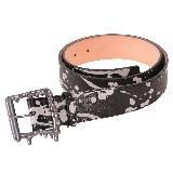 高缇耶Jean Paul Gaultier泼墨印花羊皮腰带