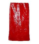 Miu Miu红色亮皮半身裙