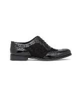 D&G黑色牛皮布洛克鞋