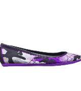 Dior迪奥Christian Dior荧光紫色迷彩平底鞋