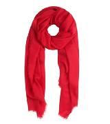 巴宝莉Burberry博柏利红色刺绣轻盈保暖羊绒围巾