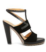 Anteprima黑色时尚粗跟凉鞋