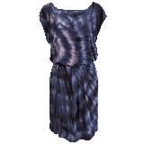 KOOKAÏ 2013年春夏几何印花紫色无袖连衣裙