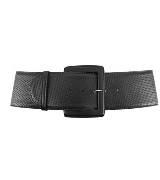 高缇耶Jean Paul Gaultier黑色时尚皮革腰带