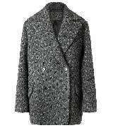 MANGO芒果2013冬季系列灰色豹纹大衣