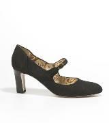 Anteprima黑色毛皮中跟鞋
