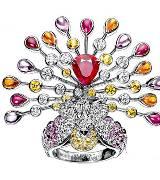 宝诗龙Boucheron动物寓言系列孔雀戒指