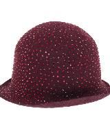 Emporio Armani安普里奥·阿玛尼2013秋冬系列红色圆顶小礼帽