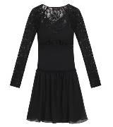 Mulberry 黑色蕾丝褶摆连衣裙