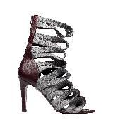 巴黎世家(Balenciaga)2013早春绛紫色绷带高跟罗马鞋
