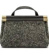 anteprima黑白混合手提包