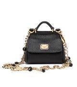 D&G黑色皮革手提包