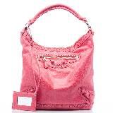 巴黎世家Balenciaga粉红色皮革拎包