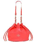 Kate Spade红色斜背束带包