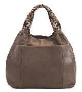 Furla芙拉棕色皮革手袋