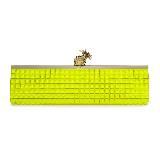 Kate Spade荧黄色闪石与菠萝扣饰手持包