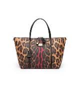 D&G咖色豹纹手提包