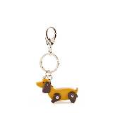 Furla芙拉黄色小狗钥匙环