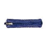 Furla芙拉蓝色鳄鱼纹文具袋