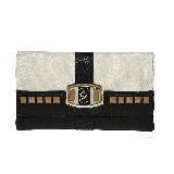 GUESS Pembrook系列黑白拼接方块装饰钱夹