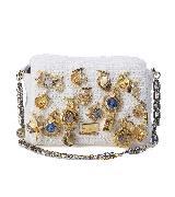 杜嘉班纳Dolce & Gabbana白色编制链条包