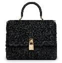 Dolce&Gabbana杜嘉班纳2014春夏系列黑色花纹手提包