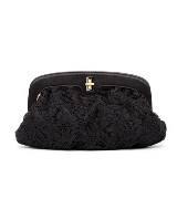 D&G黑色蕾丝手拿包
