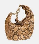 Gucci古驰蛇皮单肩包