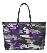 Dior迪奥荧光紫迷彩手提包