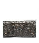 巴黎世家(Balenciaga)2013早春深棕色长款搭扣钱包