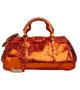 Burberry Prorsum 2013春夏The Blaze系列亮橘色单肩包