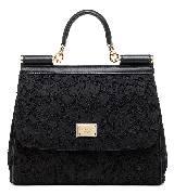 Dolce&Gabbana杜嘉班纳2013秋冬黑色蕾丝公文手提包