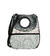 巴黎世家(Balenciaga)2013早春浅绿浅灰双拼几何造型单肩包