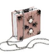 2013 春夏H&M 红毯系列粉色钉珠小方包